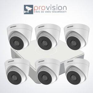 Komplet za video nadzor sa 6 Hikvision Full HD kamere