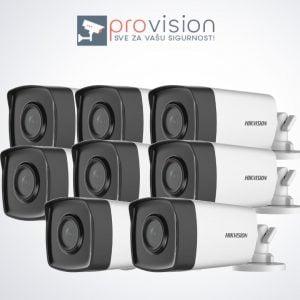 Komplet za video nadzor sa 8 Hikvision Full HD kamere