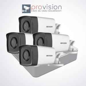 Komplet za video nadzor sa 4 Hikvision Full HD kamere