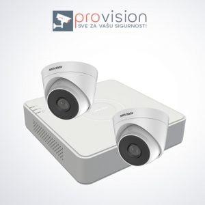 Komplet za video nadzor sa 2 Hikvision Full HD kamere